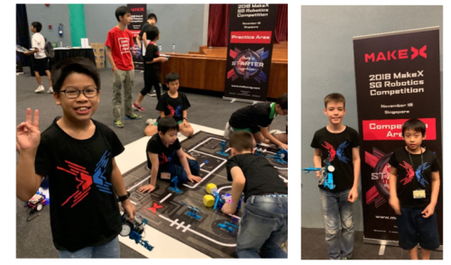 Our students participating in MakeX Singapore Robotics Competition