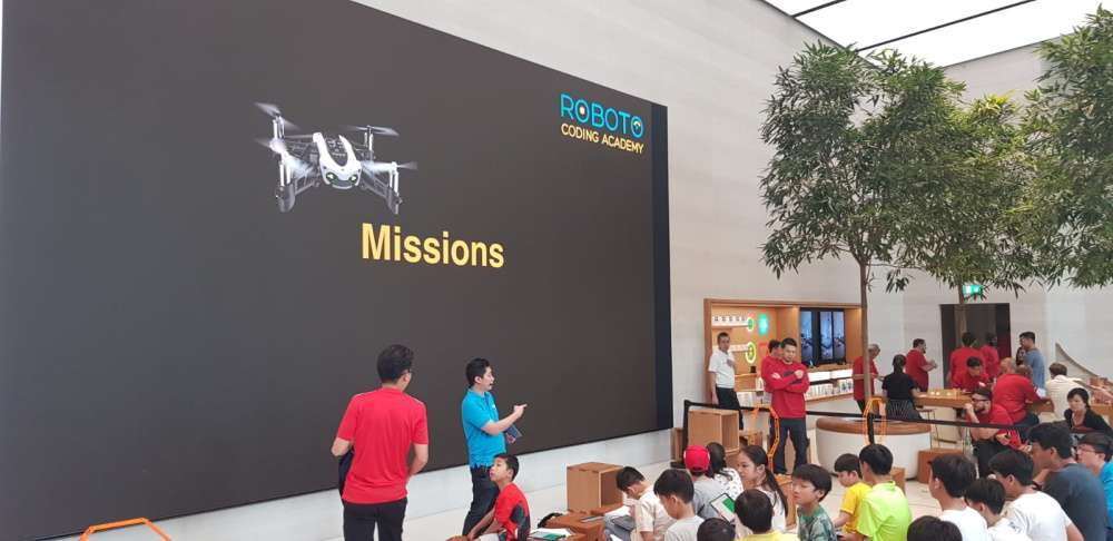 Drone coding workshop conducted at Apple Singapore