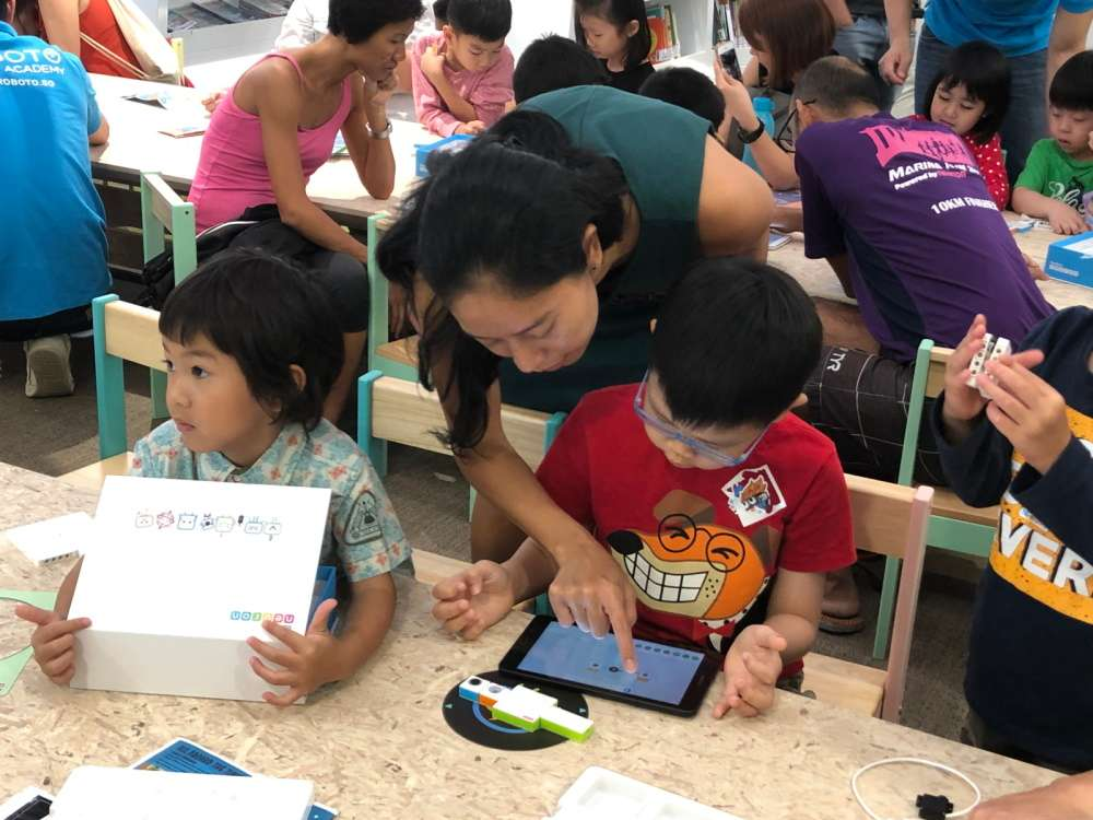 Learning coding at library - NLB