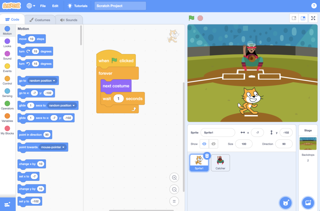 Scratch 3.0 Programming For Kids Interface